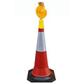 Solar Power LED Warning Light for Traffic Cone