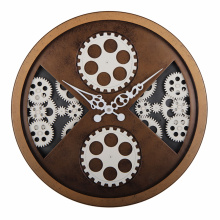 Antique Style Wall Clock in Rustic Finishing