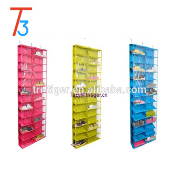 26 Interlayers Door Hanging Shelf Display Stand Holder Shoe Storage Organizer