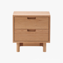 Good Quality for Solid Wood Nightstand Wooden Furniture 2DRW Wood Nightstand Chest supply to Netherlands Manufacturers