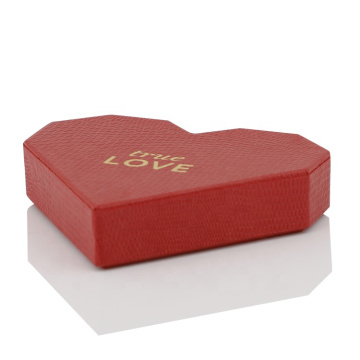 Cardboard Empty Heart Shaped Wedding Box With Lid