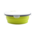 Silicone Round Collapsible Food Container Lunch Box