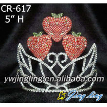 Rhinestone strawberry shape Pageant Crown