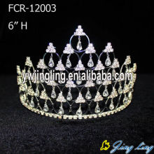 6 Inch tall bling rhinestone pageant crowns