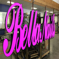 Lighted Big Light Box Letters Sign Making