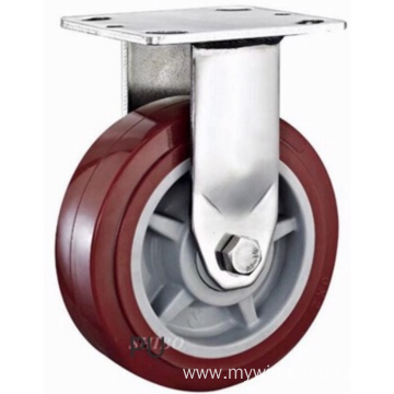 5 inch Stainless steel bracket  PU  casters without brakes