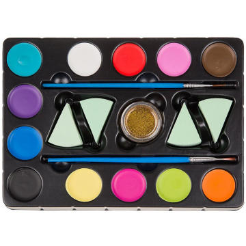 Water Based Safe Face Paint Kit 12Colors Palette