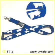 Wholesale cute cartoon dye silkscreen exhibition lanyard