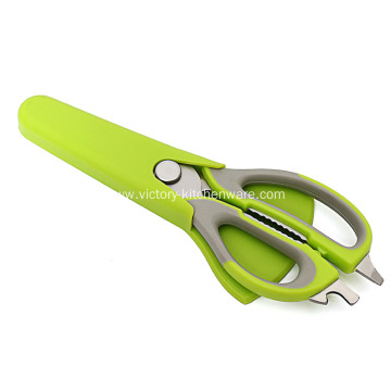 Soft Grip Handle Kitchen Shears with Cover