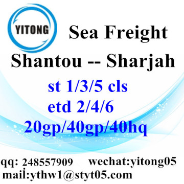 Shantou Logistics Servieces to Sharjah