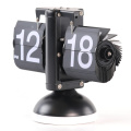 Black Table Flip Clock With Light