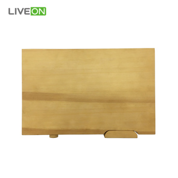 Large Cypress Wood Cutting Board with Rotating Foot