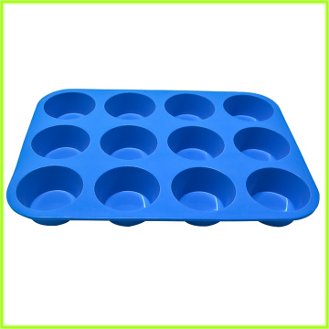 Supply for 12 Cups Silicone Muffin Pans,Large Commercial Muffin Top Pan Manufacturer and Supplier BPA-free 12 Cups Silicone Muffin Mold supply to Mayotte Exporter