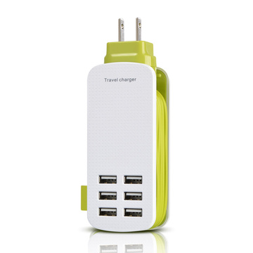 For phone UK/US/EU Plug  6 USB port travel charger