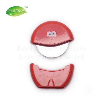 Funny Round Pizza Cutter Wheel With Cover