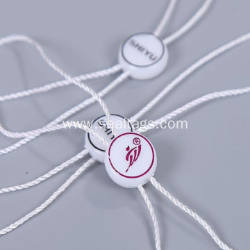 Circle white ground gold logo tag seal
