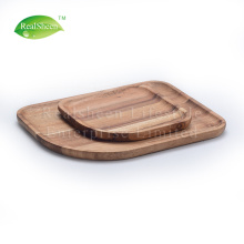 Set Of 2pcs Acacia Wood Serving Plate