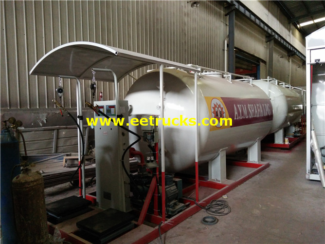 15000 Litres 6ton Mobile Skid Propane Stations