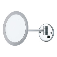 Acrylic round wall magnifying mirror with lights
