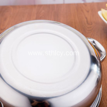 Quality Stainless Steel Double Layer Soup Steamer