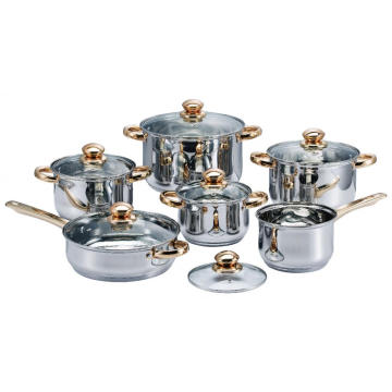Tight-Fitting Covers Stainless Steel Cookware Set
