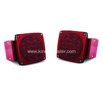Red Square LED Trailer Tail Light