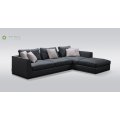 Deep Corner Sofa With Leather Cushion