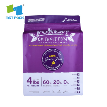 Plastic Packaging Bag for Pet Food with zipper
