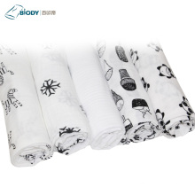 Two Layers Gauze Fabric Kid Blanket for Newborn