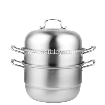 Best Stainless Steel 2 Layers Steamer Pot