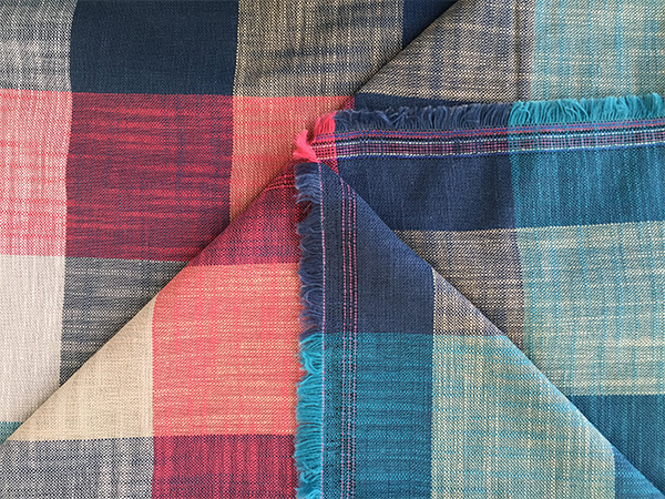 Both Sides Of Fashion Plaid Color Bamboo Fabric