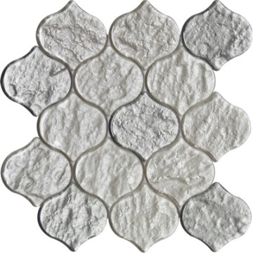 White and silver color lantern mosaic