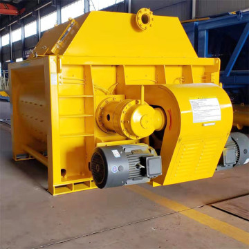 JS  manual operation twin shaft concrete mixer