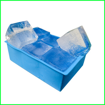 Manufacturer of for 6 Cavity Silicone Ice Cube Tray Top Sale Square Silicone Ice Tray Moulds export to Somalia Factory