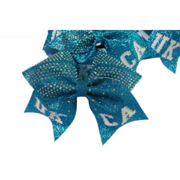 Custom Glitter Cheer Hair Bow For Baby