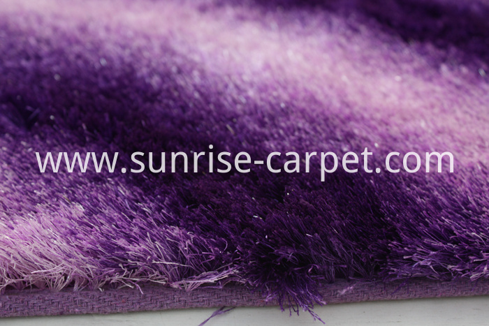 Thin Polyester Shaggy Rug Shades Design