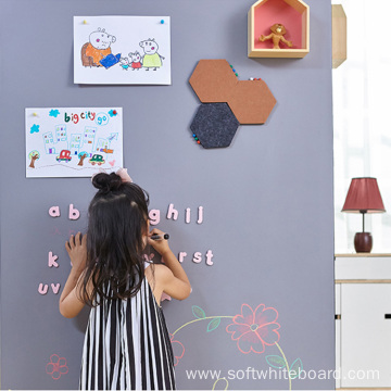 Self Adhesive Kids Writing Chalkboard And Whiteboard