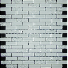 white cracked crystal mosaic
