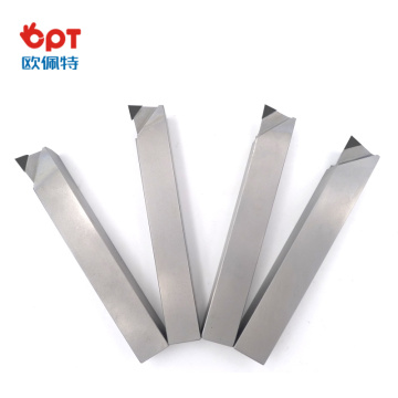 Diamond tipped turning tools with single point