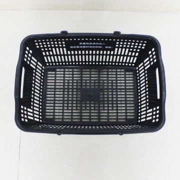 wholsale Supermarket plastic carry black shopping baskets