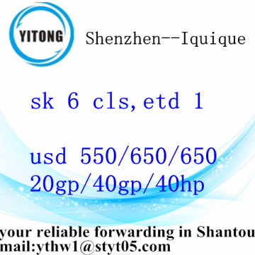 International Logistic Services from Shenzhen to Iquique