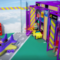 Airport Themed Indoor Playground Structure For Children