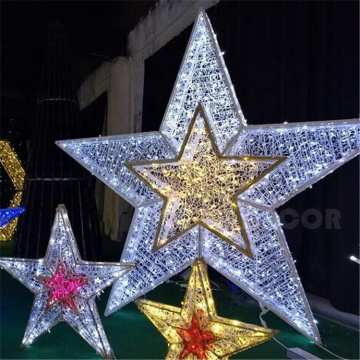 led light outdoor Star christmas decorations light