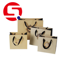 Good Quality for Cheap Paper Shopping Bags Custom brown paper bags with handles wholesale export to Germany Supplier