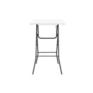 Plastic Small Down Square Steel Folding Dining Table