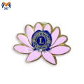 Pink sunflower soft enamel lapel pin badge