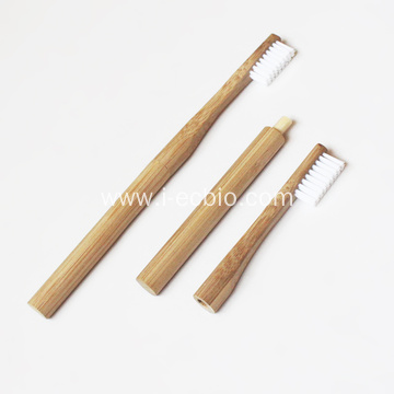 Head-Changing Bamboo Toothbrush With Replaceable Brush Head