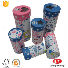 paper tube gift box with PVC window