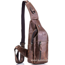 20 Years manufacturer for Trendy Crossbody Bags Stylish Popular Leather Men Sling Pack supply to Nepal Factory