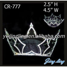 Cheap Star Shape Rhinestone Full Round Crowns